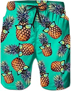 035c22485e Leapparel Men's Funny Swim Trunks Quick Dry Summer Surf Beach Board Shorts  with Mesh Lining/