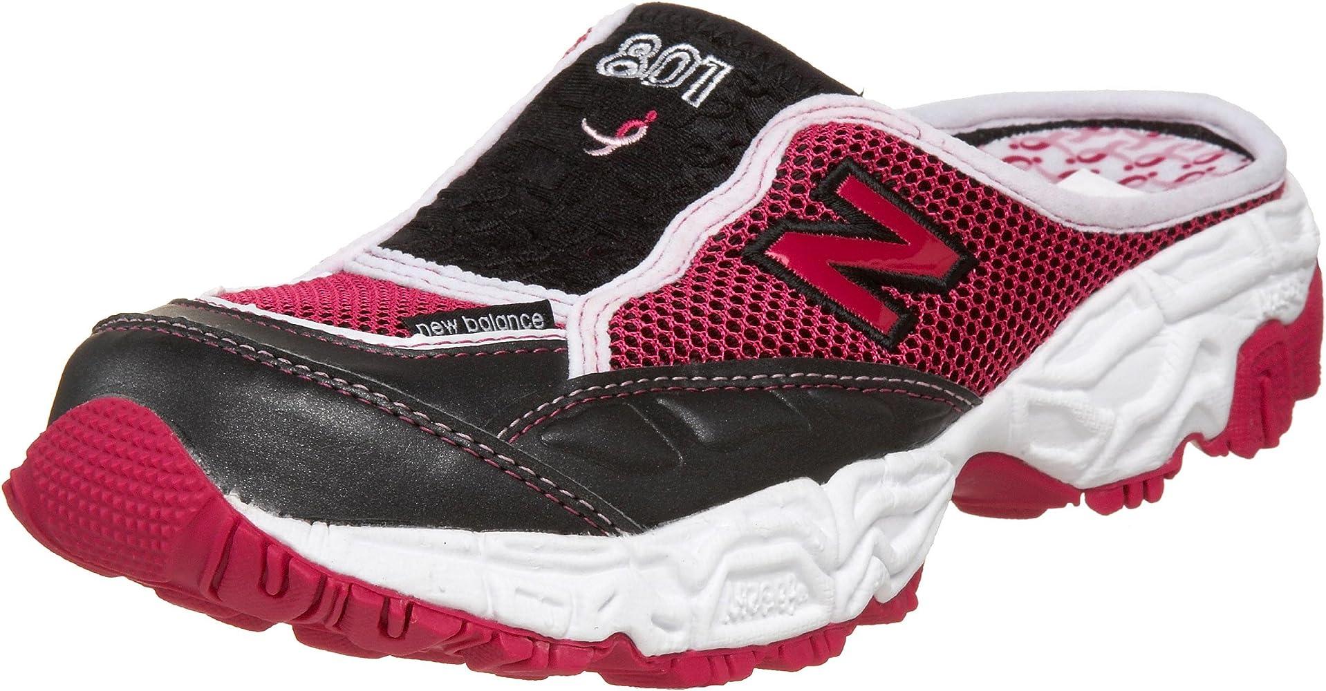 Amazon.com | New Balance Women's 801 Slide Sneaker, Black/Pink, 5 ...