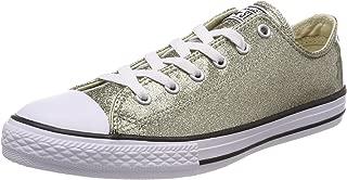Converse Chuck Taylor All Star Glitter Ox Junior Girls Trainer Gold - UK 12