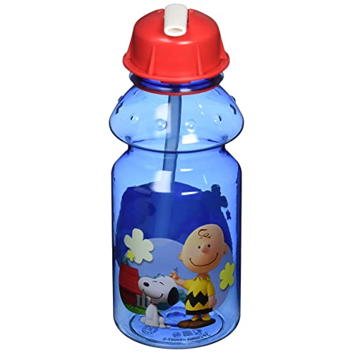Zak Designs Charlie Brown and the Peanuts Tritan Plastic Water Bottle 14 Oz
