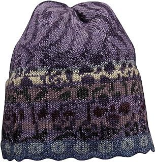 Invisible World Women's 100% Alpaca Wool Hat Knit Unisex Beanie Viola