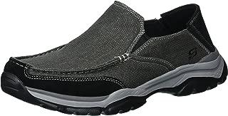Skechers Men's Relaxed Fit-Rovato-Veleno Boat Shoe,black,9.5 M US