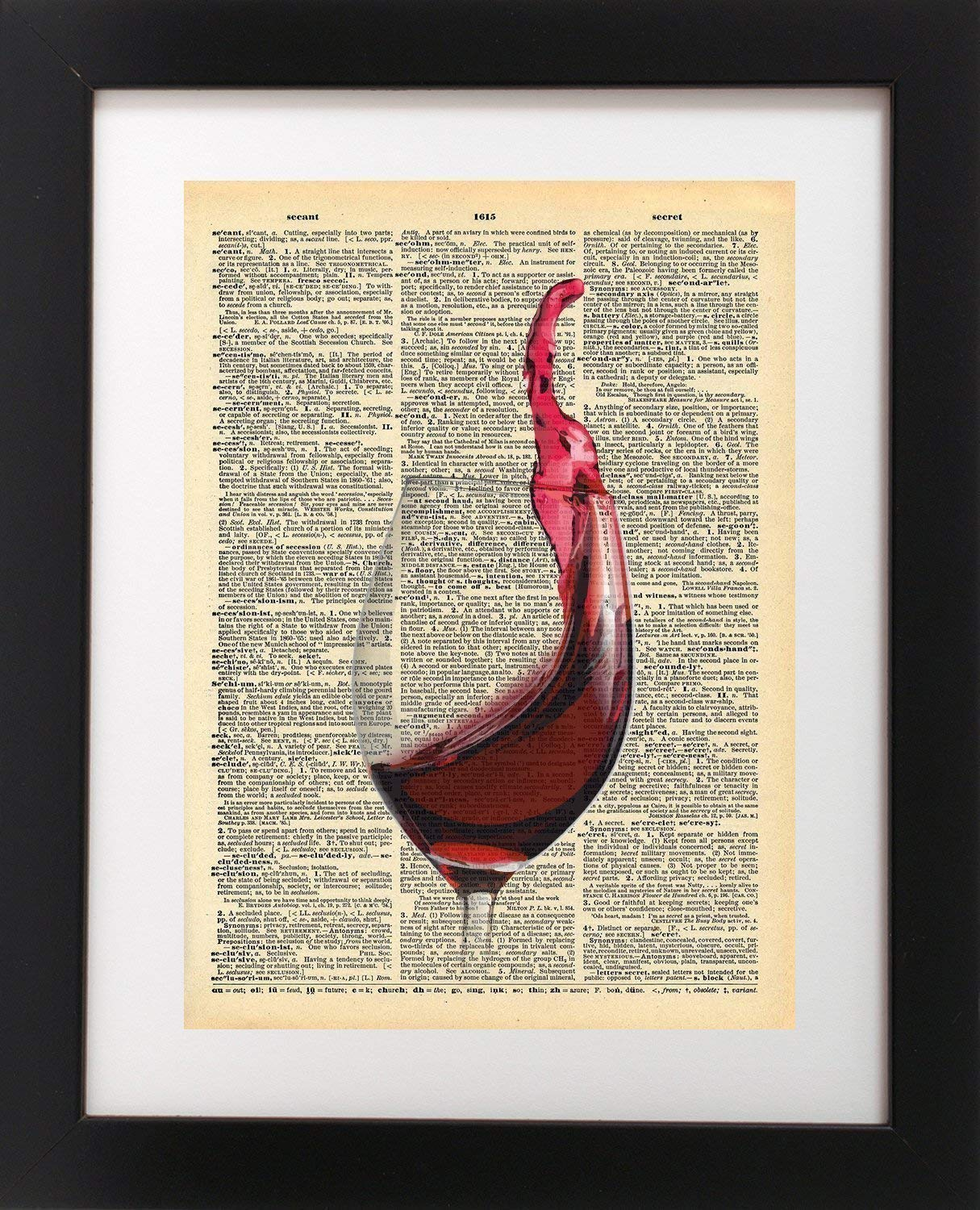 Wine Max 70% OFF Glass - Gifts Gift P Vintage Dictionary Art