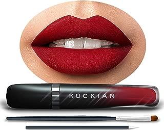 DINNER AT 8 - Sexy Red Lipstick - LASTS 12 HOURS - Liquid Velvet Supremé by Kuckian - Vitamin E, Cruelty Free, Vegan, Matte Lipstick, Long Lasting