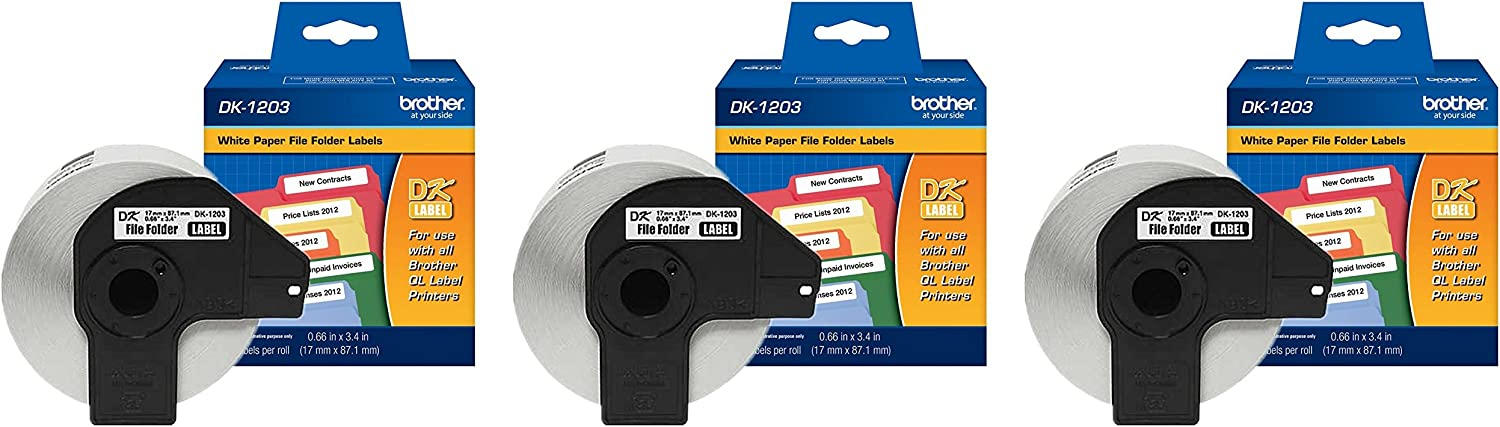 Brother Genuine DK-1203 Die-Cut Virginia Beach Mall File 300 p Folder Labels 2021new shipping free