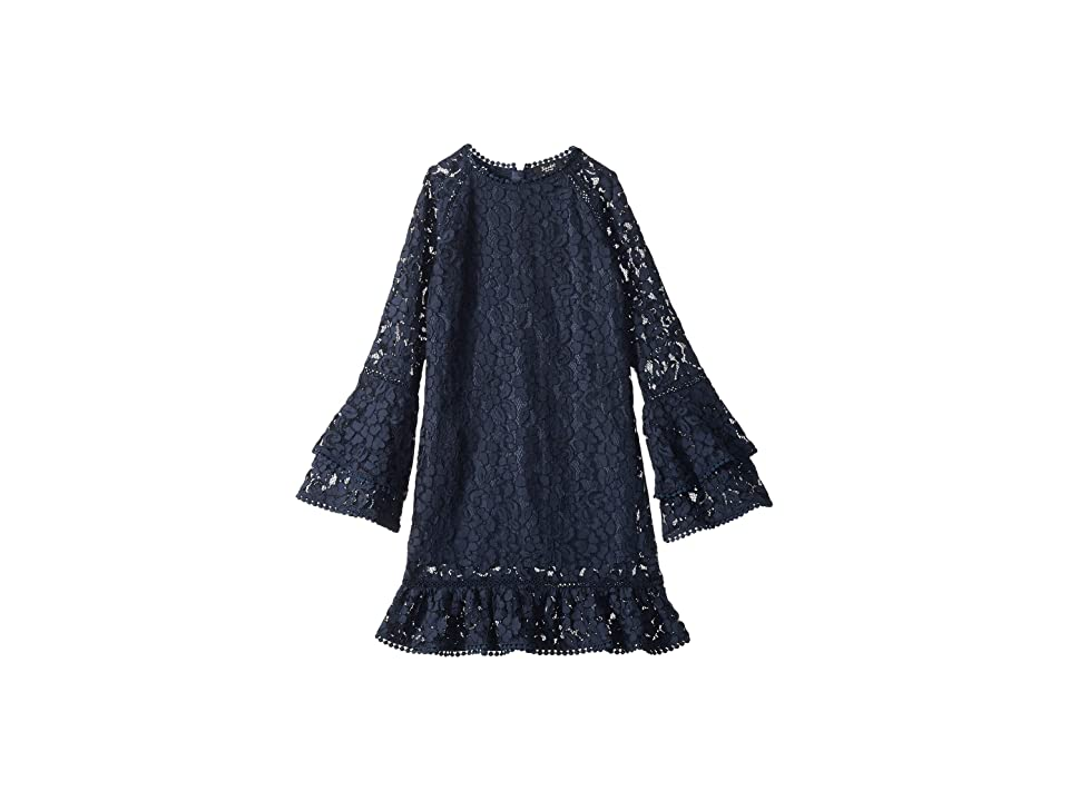 Bardot Junior Laurent Lace Dress (Big Kids) (Navy) Girl