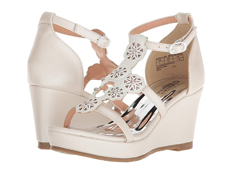 Badgley Mischka Kids Sophia Flora (Little Kid/Big Kid) (Pearlized White Multi) Girls Shoes