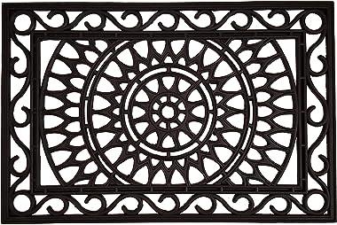 """Calloway Mills 153802436 Sungate Rubber Doormat, 24"""" x 36"""", Black"""