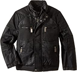 Urban Republic Kids - Sherpa Lined Moto Jacket (Little Kids/Big Kids)
