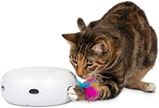 PetFusion Ambush Interactive Cat Toy with Electronic Rotating Feather. (Smart Modes, Nighttime Light, Batteries Included)