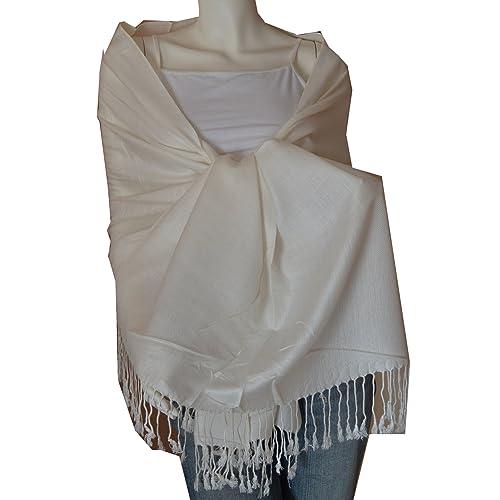 172ee9327 SCARF_TRADINGINC® Large Soft 100% Twill Pashmina Scarf Shawl Wrap