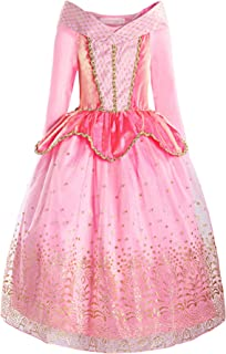 ReliBeauty Girls Princess Dress up Aurora Costume