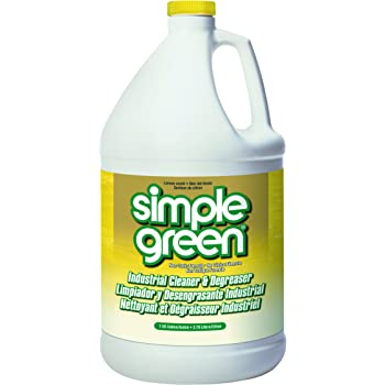 Simple Green 73434010 14010 Industrial Cleaner & Degreaser, Concentrated, Lemon, 1 gal Bottle
