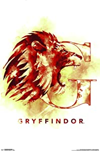 Trends International Wizarding World: Harry Potter-Gryffindor Illustrated House Logo Wall Poster, 22.375