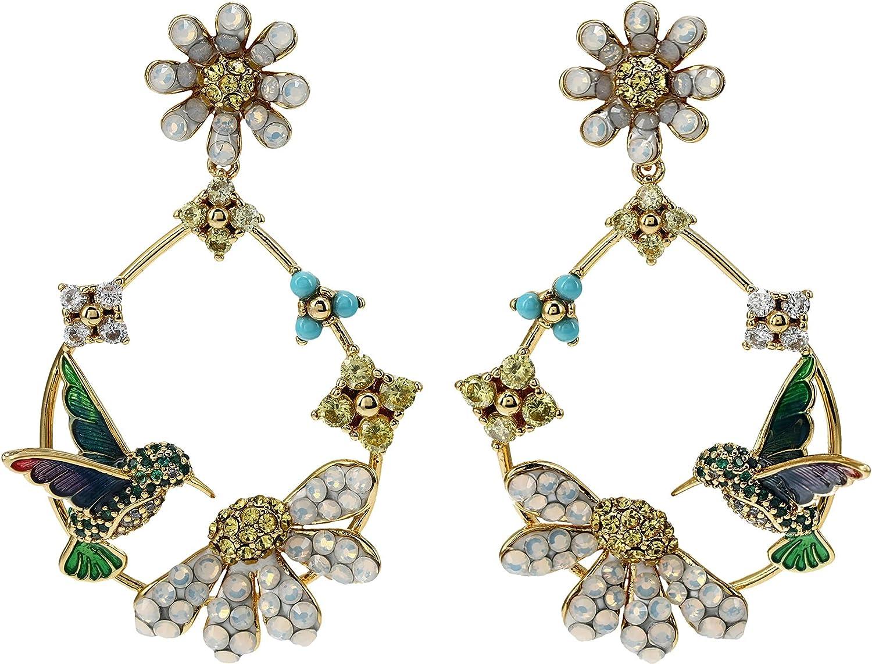 Kate Spade New York Dazzling Daisy Statement Hoops Earrings