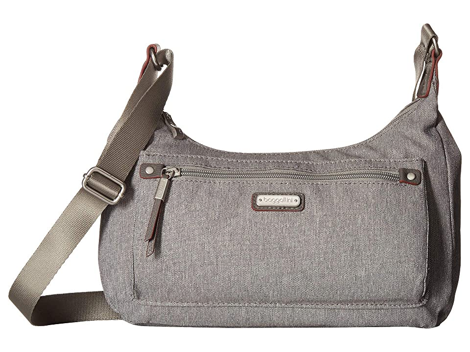 Baggallini New Classic Out and About Bagg with RFID Phone Wristlet (Stone) Bags