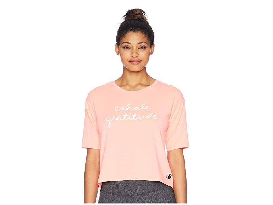 New Balance Release Layer Tee (Fiji Heather) Women