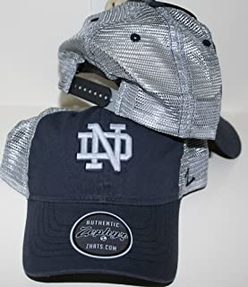 ZHATS Notre Dame Fighting Irish Dark Navy Kelly Green ND DH Fitted Hat//Cap Mens Adult Size Medium//Large