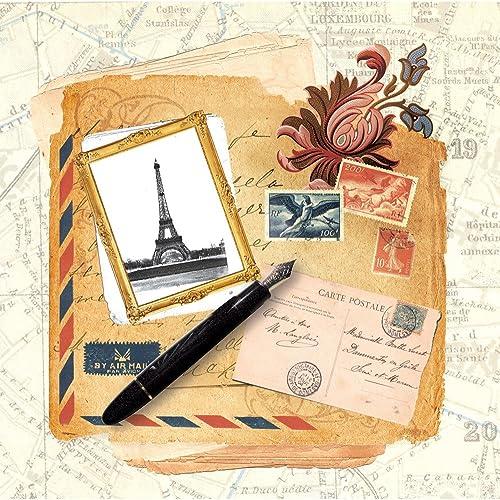 despacho de tienda Dove of the the the East Paloma del Este 25Hojas Letras de París Papel para Scrapbooking, París Vintage, 12por 30,48cm  hasta un 70% de descuento