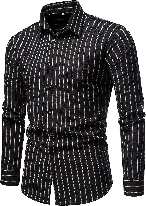 Mens Dress Shirts Long Sleeve Regular Fit Fashion Shirt, Soft Button Down Shirts, 2021 Casual Dress Shirt for Men