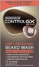 Just For Men Control GX Grey Reducing Beard Shampoo for Mustache & Beard, 4 Fluid Ounce