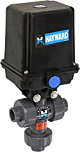Hayward EAUTN105STE 1/2-Inch EAUTN Series Actuated 3-Way True Union Ball Valve with Threaded EPDM Seal