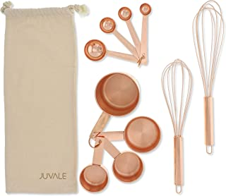Juvale Stainless Steel Kitchen Cooking Baking Utensils 10 Piece Tool Set, Rose Gold