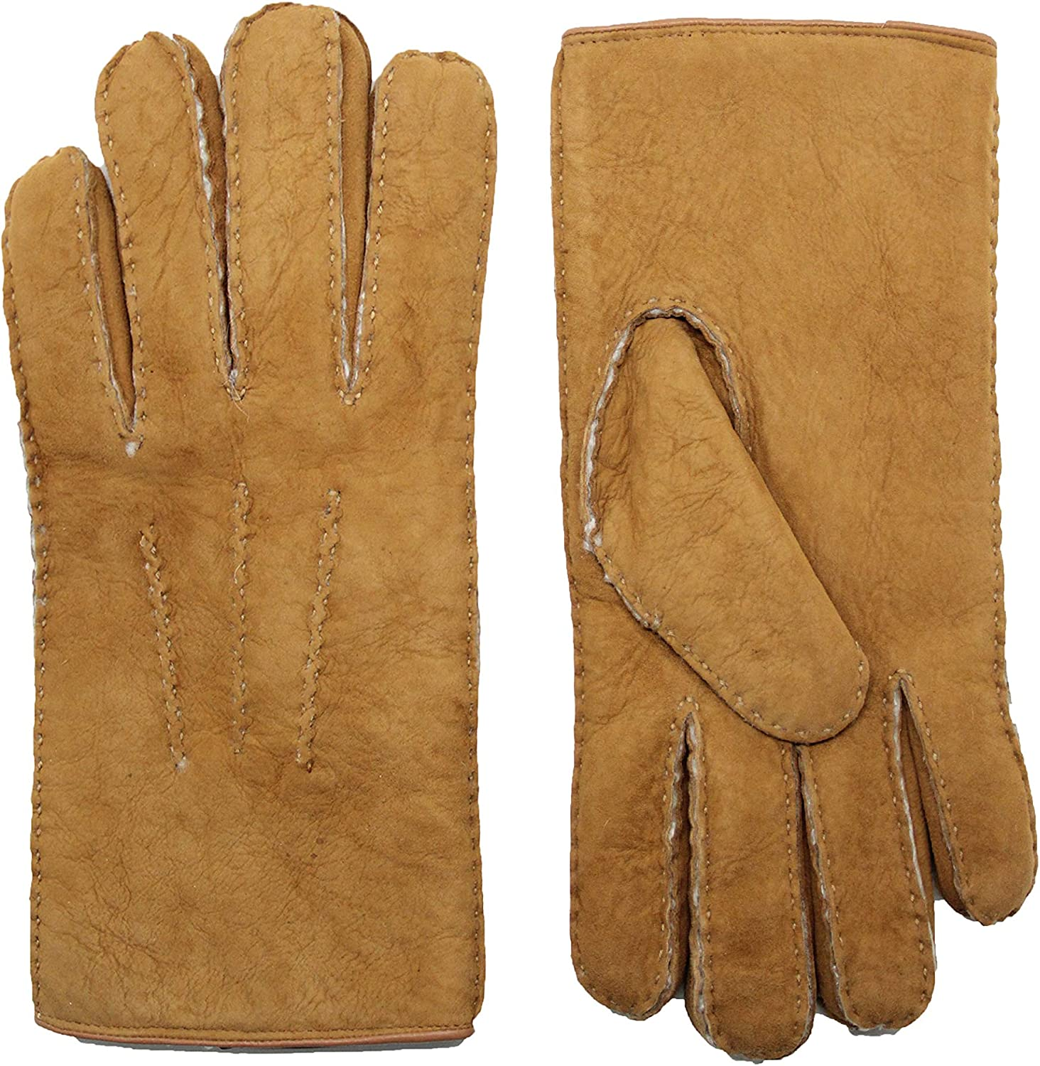 NEW before selling ☆ YISEVEN Men's Price reduction Curly Shearling Leather Gloves New Zealand Sherpa