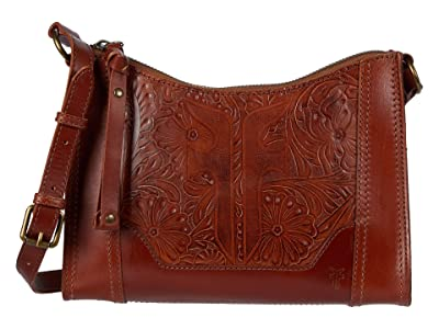 Frye Melissa Artisan Zip Crossbody (Cognac) Handbags