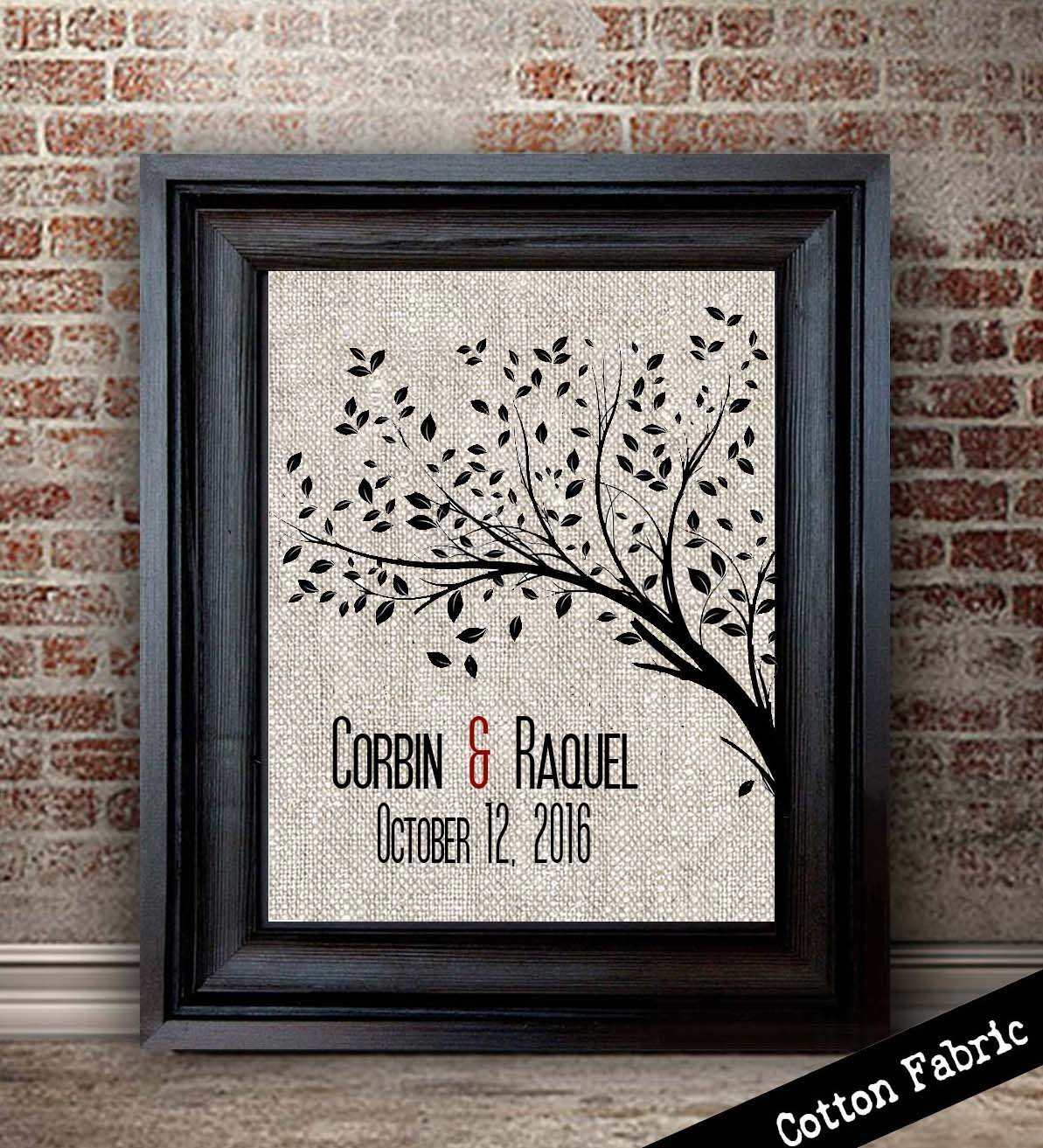 Personalized Cotton Anniversary Gift For Her   2nd Anniversary Gift For Wife   2 Year Anniversary Gifts for Women   Cotton Fabric Print   Tree Print & Amazon.com: Personalized Cotton Anniversary Gift For Her   2nd ...