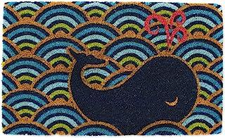 DII Indoor/Outdoor Natural Coir Fiber Spring/Summer Doormat, 18x30, Whale