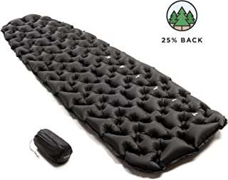 Shasta Ultralight Inflatable Air Sleeping Pad - Comfortable, Lightweight, Compact, and Portable Air Mattress, Perfect for Backpacking, Car Camping, and Travel