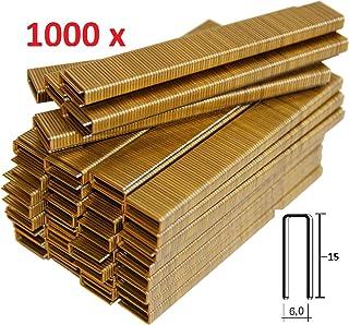 1000 GRAPAS DE 6mm X 15mm PARA GRAPADORA ELECTRICA PARKSIDE