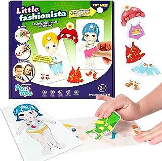 پازل کوچک Fashionista برای کودکان | Picnmix Matching Game for Toddlers 2 سال و بالاتر. بازی تخته آموزشی | اسباب بازی یادگیری پیش دبستانی. اسباب بازی مهارت های حرکتی زیبا برای پسران و دختران