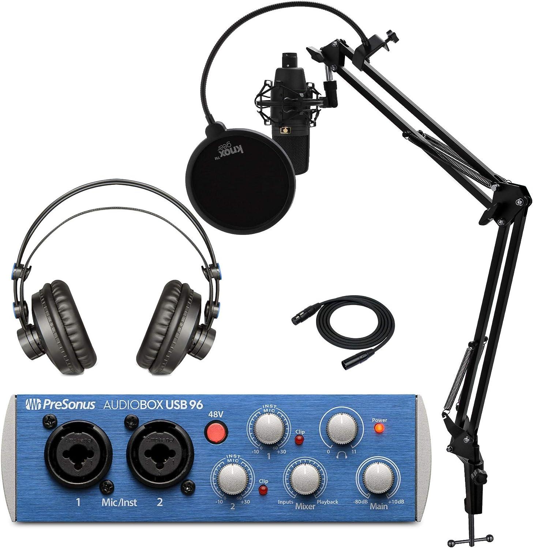 Max mart 71% OFF PreSonus AudioBox 96 Studio USB Interface 2.0 Recording w Bundle
