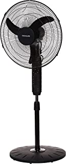 """Frigidaire Electric Pedestal stand Fan FD9011, 65W, Black, 18"""" with Oscillation, 3 Speed Selection, Motor Protection Again..."""