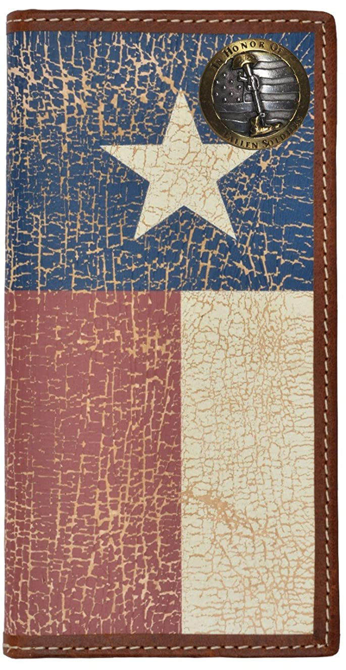 どう?化学者しなやかカスタムFallen Soldiers Long Wallet with Distressed Texas Lone Star Flag