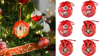 6 Pet Lover Dog Puppy Snowflake Christmas Ball Ornament