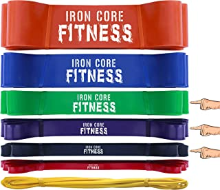 Pull up Assist Bands - Power Resistance Bands for Weight Training, Crossfit, Mobility - Light Medium Heavy Powerlifting Bands for Warm up, Stretching, Fitness