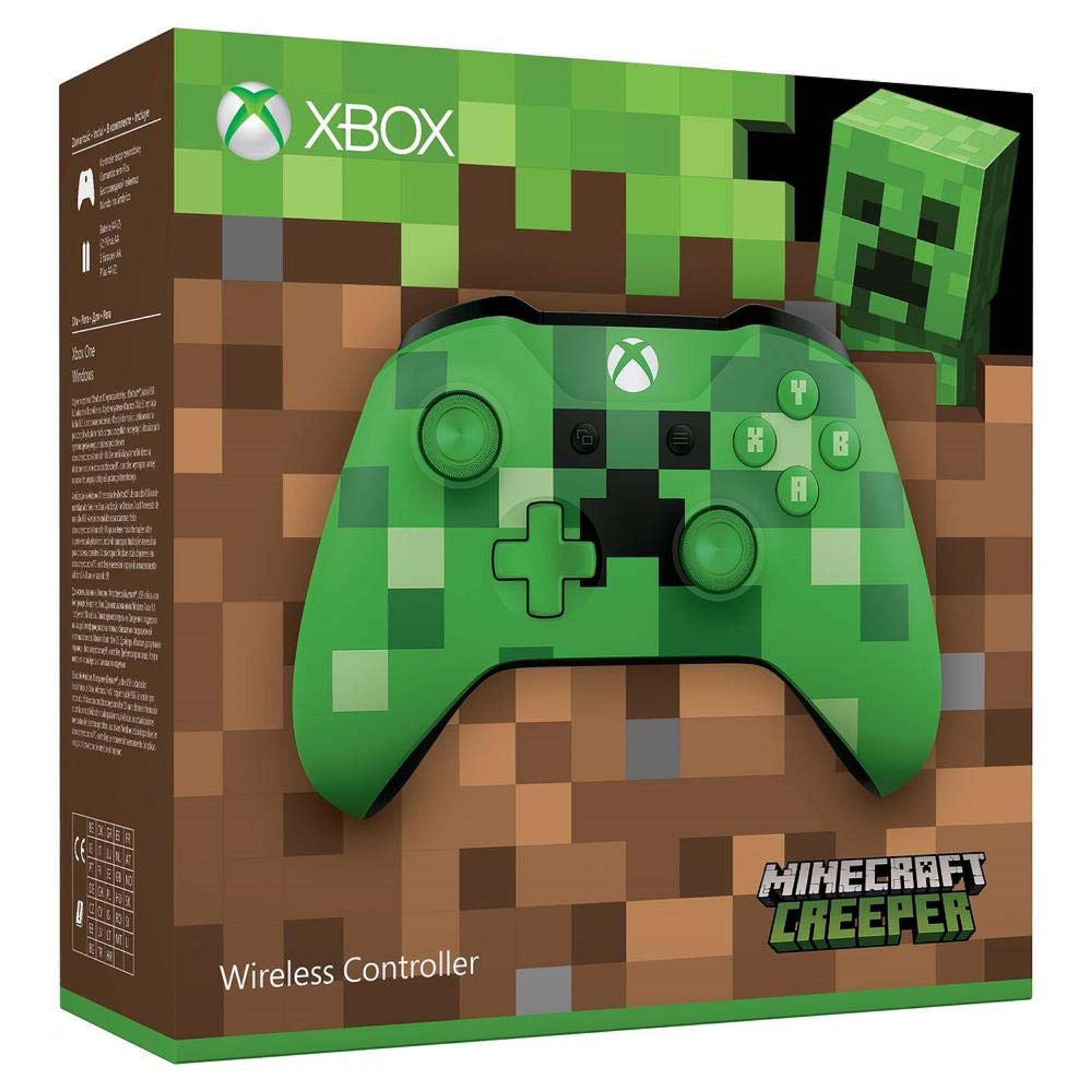 Microsoft - Mando Inalámbrico: Edición Limitada Minecraft Creeper (Xbox One), verde: Microsoft: Amazon.es: Videojuegos