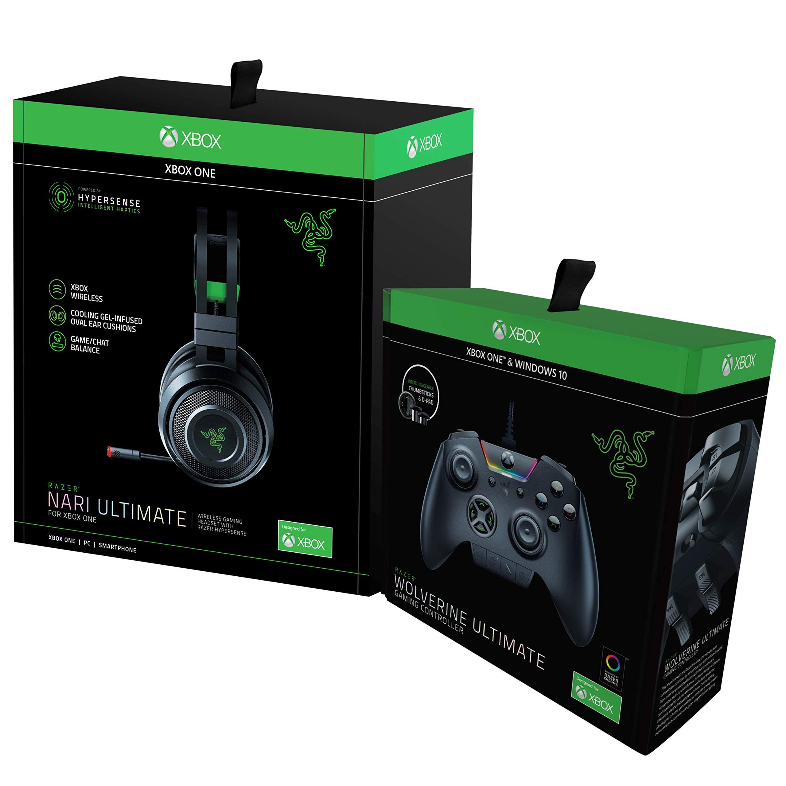 Razer Wolverine Ultimate Xbox One Gaming Controller + Nari Ultimate for Xbox One Gaming Headset Bundle