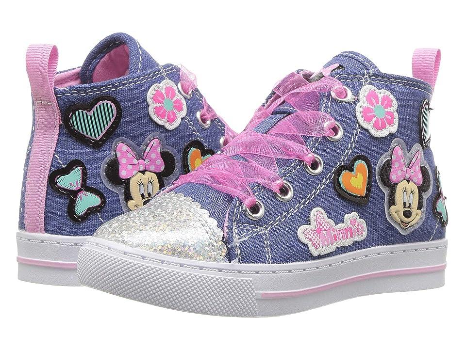 Josmo Kids Minnie Denim High Top (Toddler/Little Kid) (Blue Denim) Girls Shoes