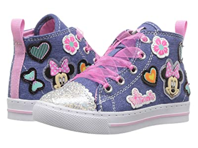 Josmo Kids Minnie Denim High Top (Toddler/Little Kid) (Blue Denim) Girls Shoes