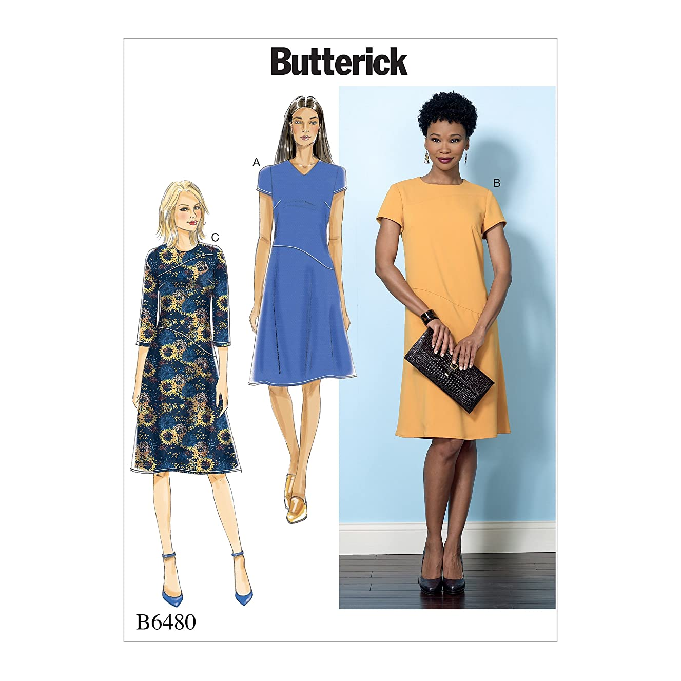 Butterick Patterns B6480E50 Misses' Fitted Dresses