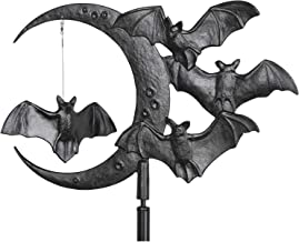 Whitehall Products Bat and Moon Garden Weathervane, Black