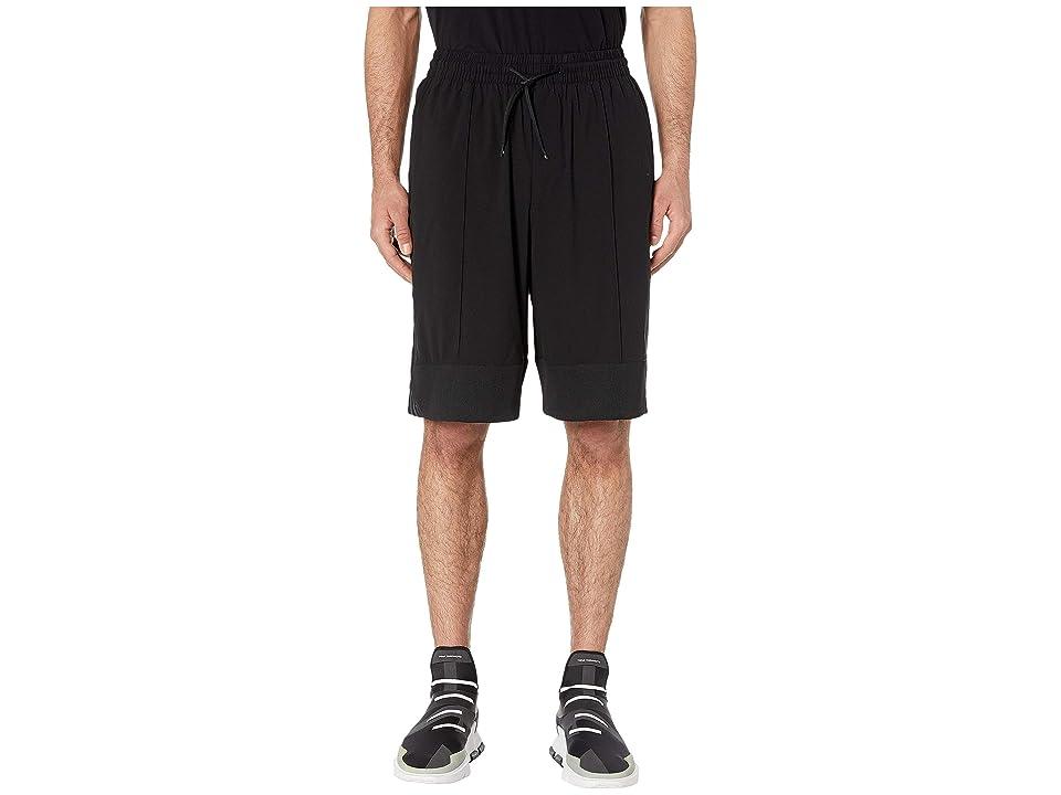 Image of adidas Y-3 by Yohji Yamamoto 3-Stripes Light Nylon - Mat Mix Shorts (Black) Men's Shorts