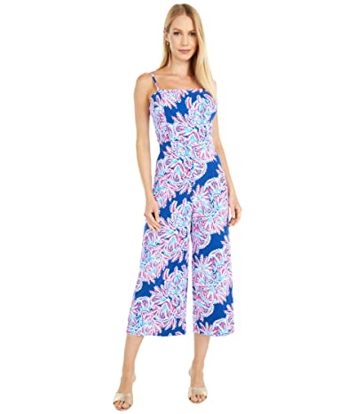 Lilly Pulitzer Sandra Jumpsuit (Oyster Bay Blue Miss Shell) Women