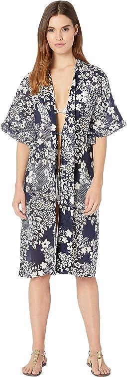 Zen Garden Kimono Midi Cover-Up