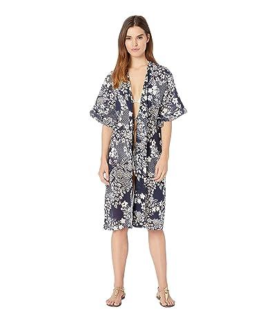 Vince Camuto Zen Garden Kimono Midi Cover-Up (Deep Sea) Women
