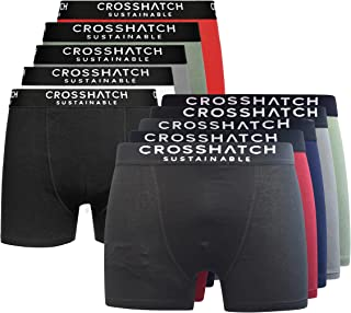 Crosshatch Mens Boxers Shorts (10 Pack) Multipacked Underwear Gift Set Boxers Trunk